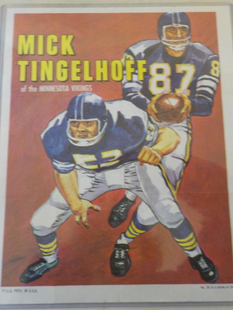 1980 TOPPS Mick Tingelhoff Football Poster Insert