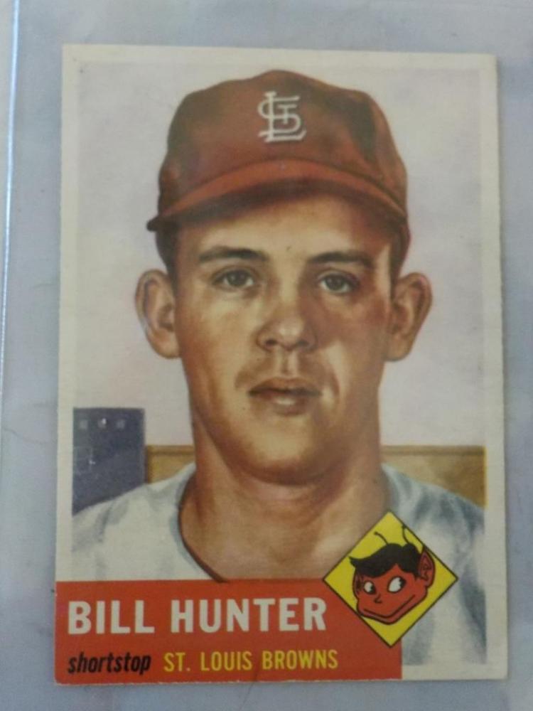 1953 TOPPS Bill Hunter #166 Baseball Card