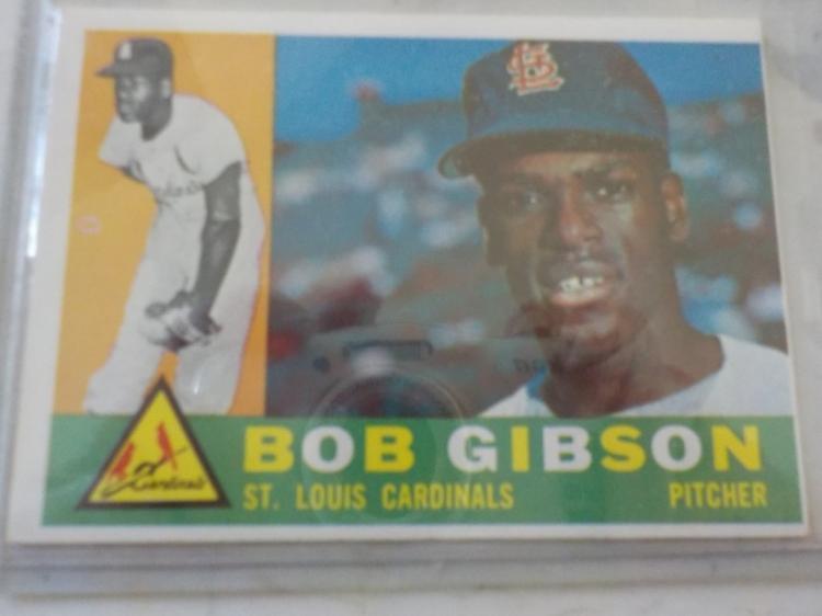 1960 TOPPS Bob Gibson #73 Baseball Card