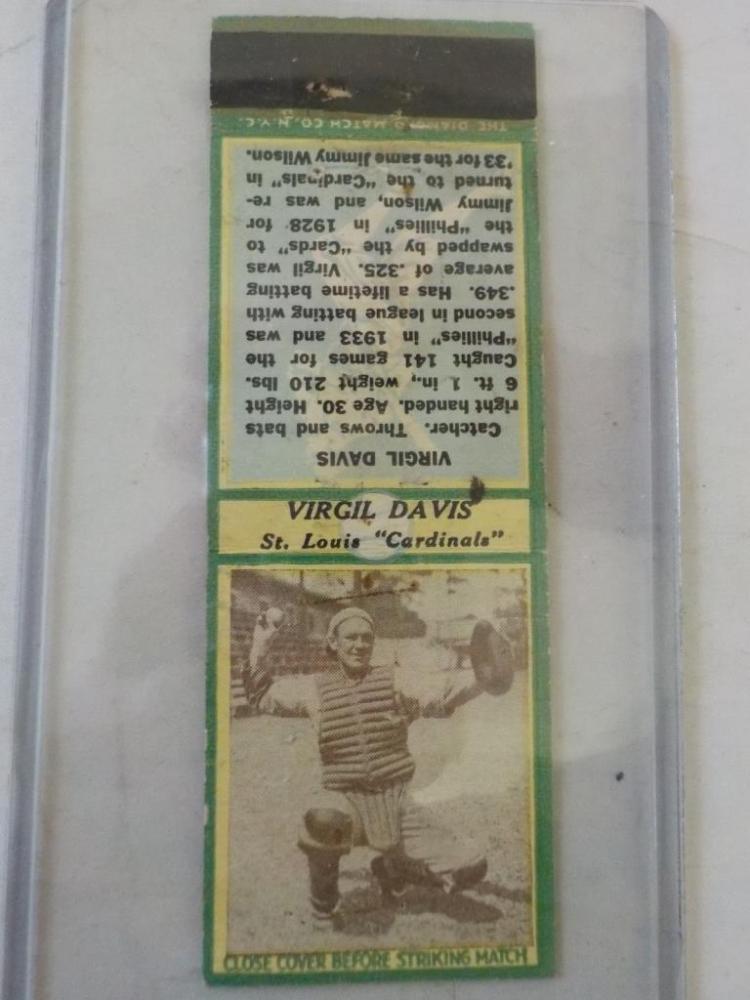 Diamond Match 1935-36 Series 3 Type1 Virgil Davis