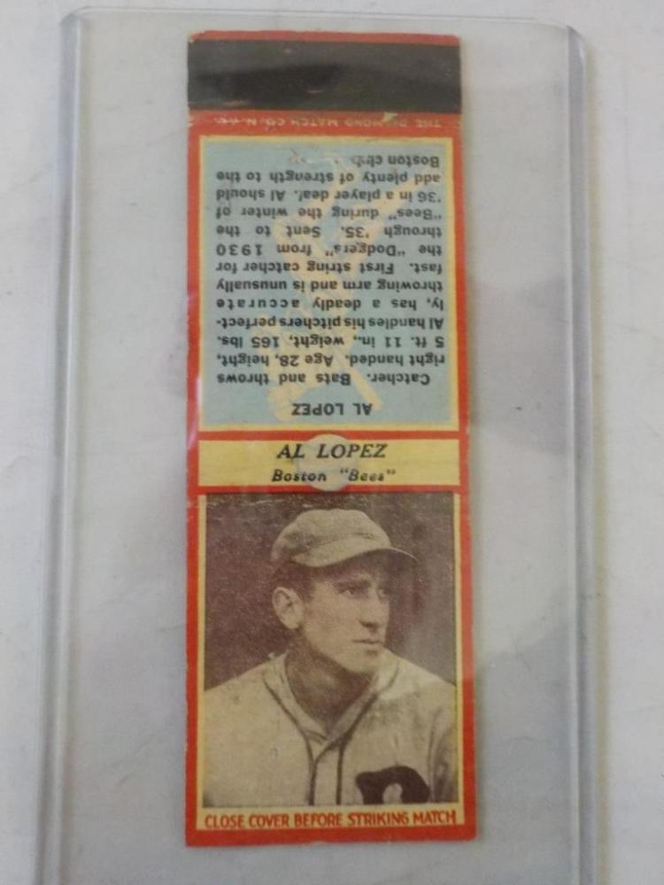 Diamond Match 1935-36 Series 3 Type1 Al Lopez