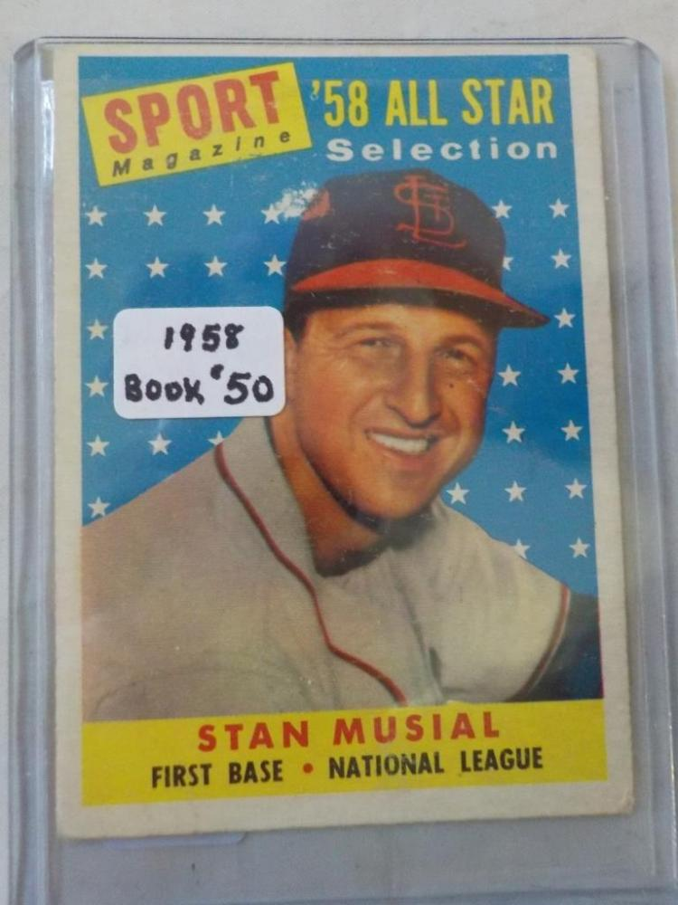 1958 TOPPS Stan Musial A.S. #476 VG+-EX