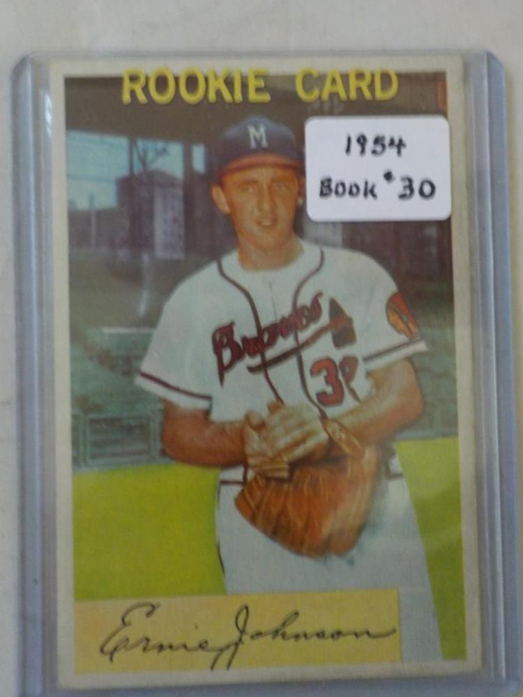 1954 Bowman Ernie Johnson Rookie # 144