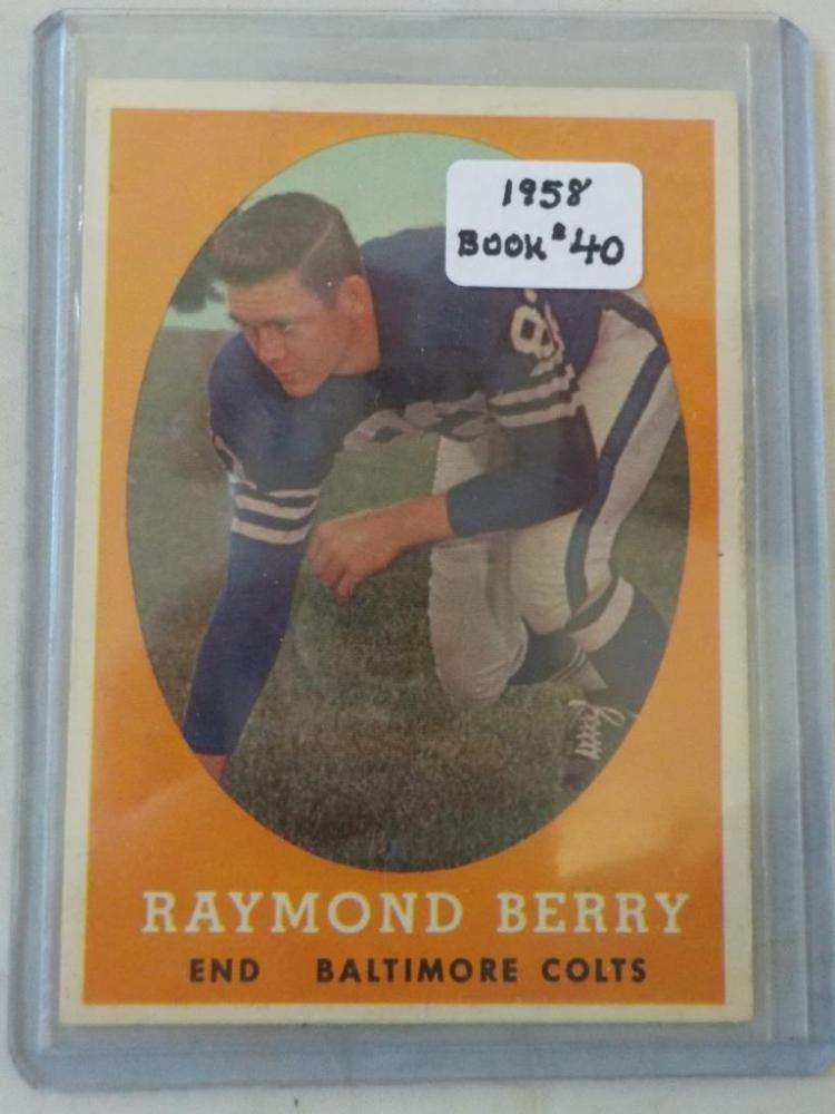 1958 TOPPS Raymond Berry #120 Football Card