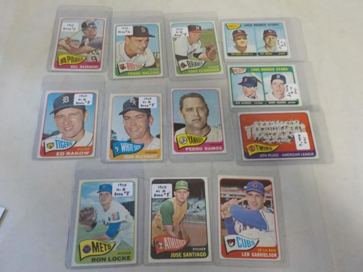 12 1965 TOPPS Baseball Cards some semi-high #
