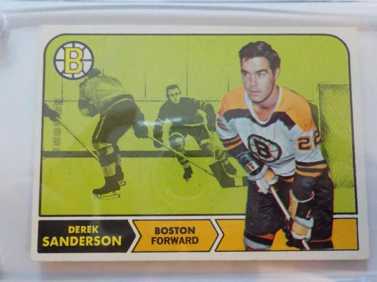 1968-69 TOPPS Hockey Derik Sanderson #6 card