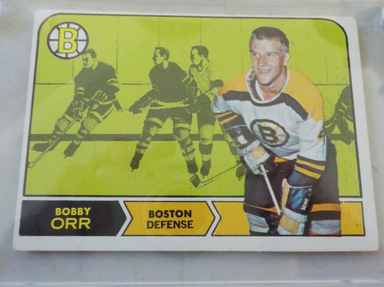 1968-69 TOPPS Hockey Bobby Orr #2 card EX