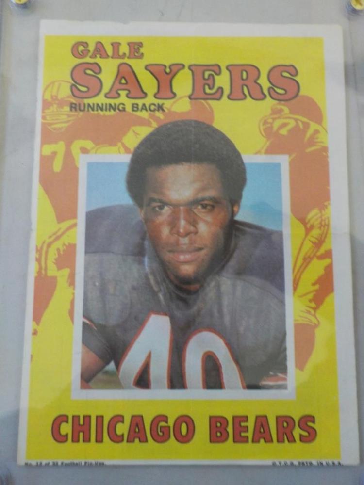 c. 1970 TOPPS Chicago Bears Football Pack Insert