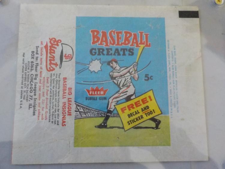 1961 Fleer Baseball Card Wrapper