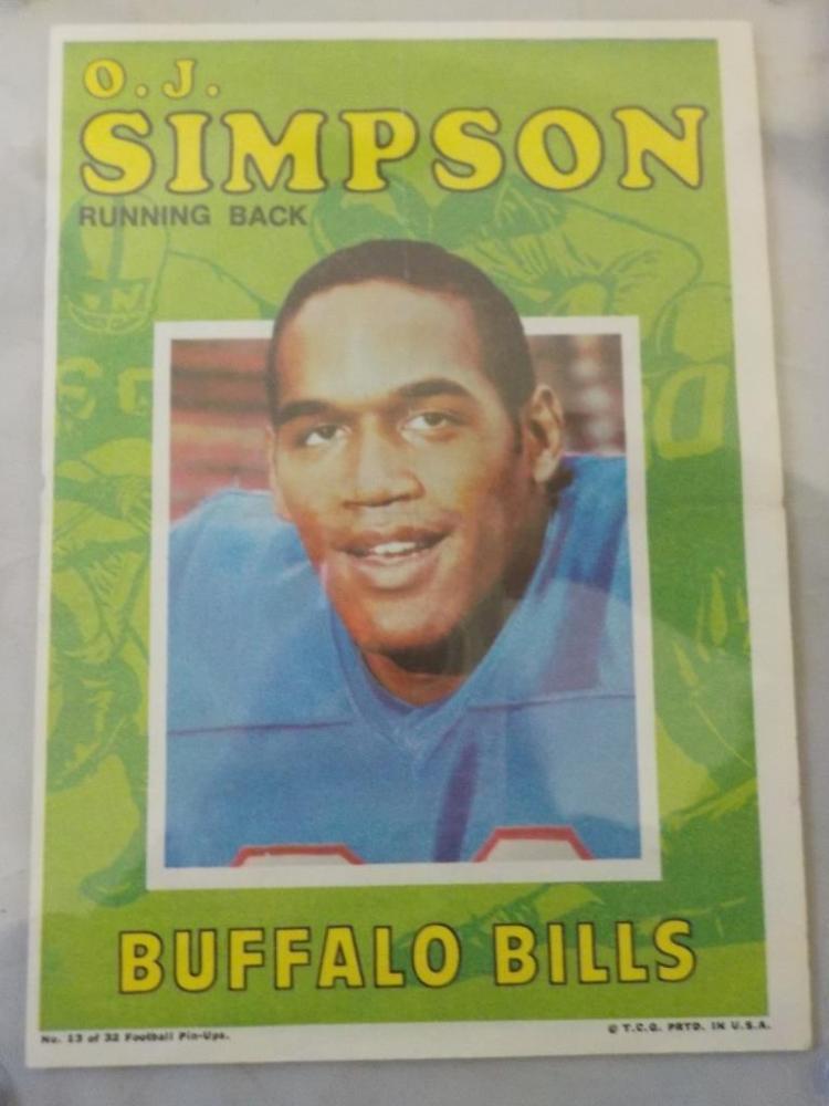 c.1970 TOPPS OJ Simpson Football Pack Insert