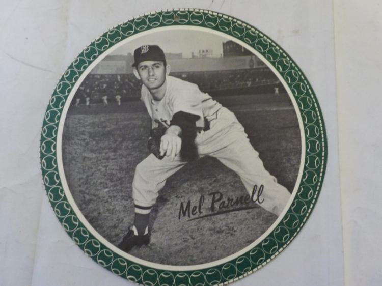 1950 Garden City All-Star Pin Up Mel Parnell RARE