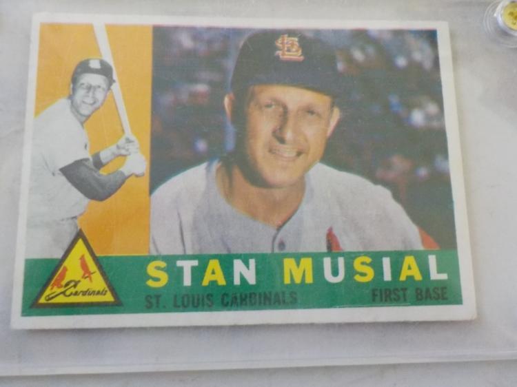 1960 TOPPS Stan Musial #250 Baseball Card EXM-NM