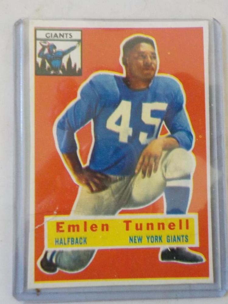 1956 TOPPS Emlen Tunnell Football Card
