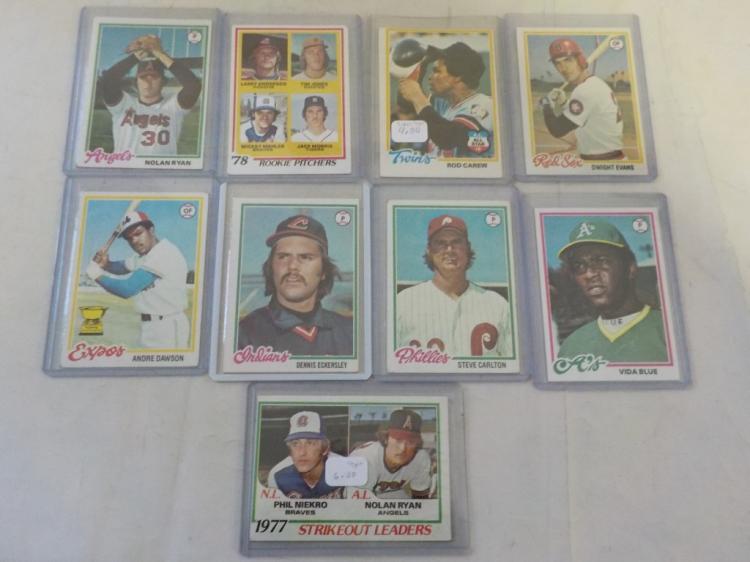 9 1978 TOPPS Baseball Superstars VG-EX to EX