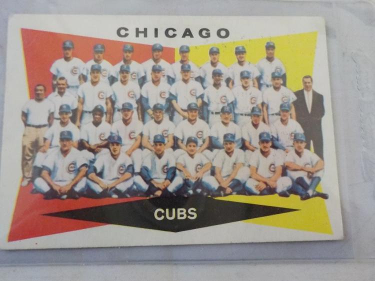 1960 TOPPS Baseball Cub Team Card #513