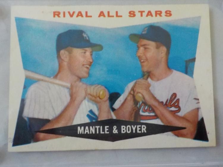 1960 TOPPS Mickey Mantle & Ken Boyer Card #160