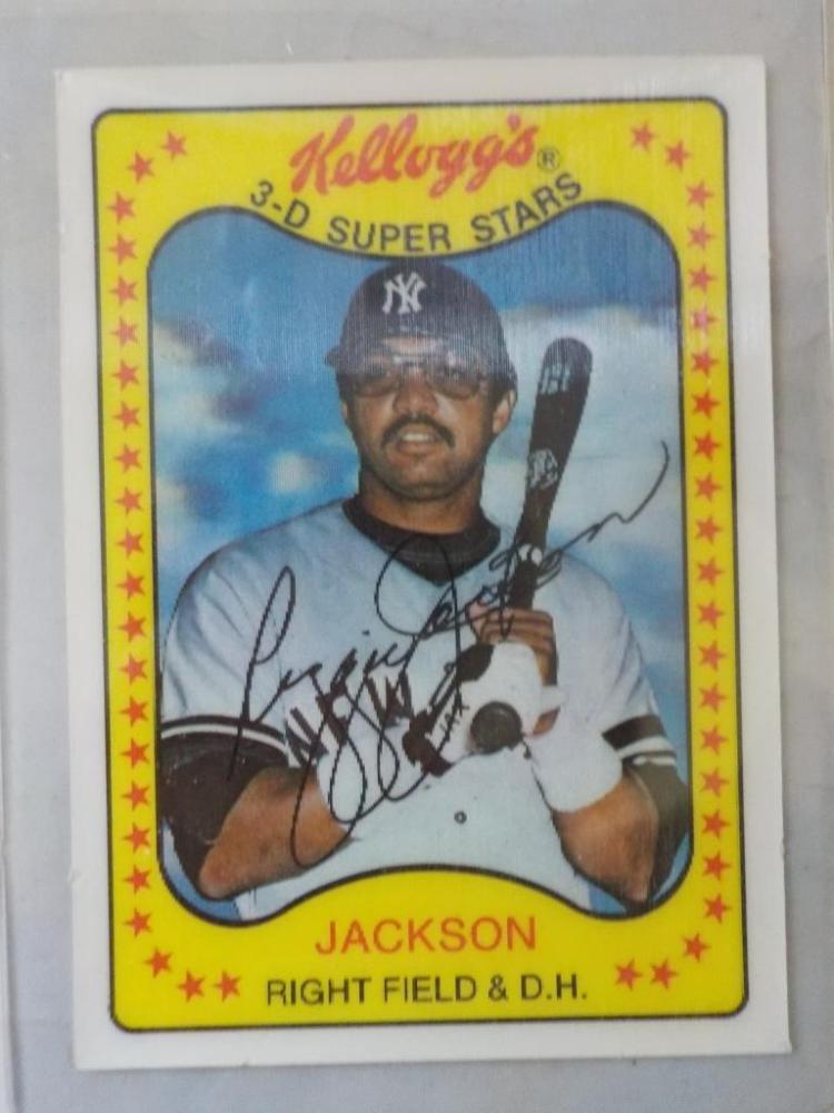 1981 Kellogg's 3-D Superstar Reggie Jackson NM-M