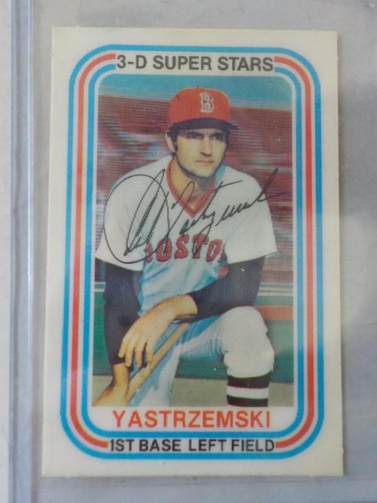 1976 Kellogg's 3-D Superstar Carl Yastzremski Card