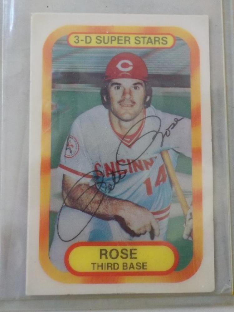1977 Kellogg's 3-D Superstars Pete Rose Card NM