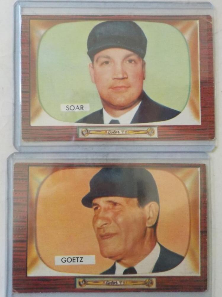 2 1955 Bowman Umpires Cards