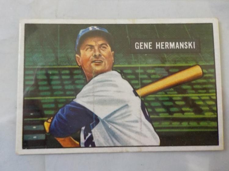 1951 Bowman Gene Hermanski Baseball Card EX+