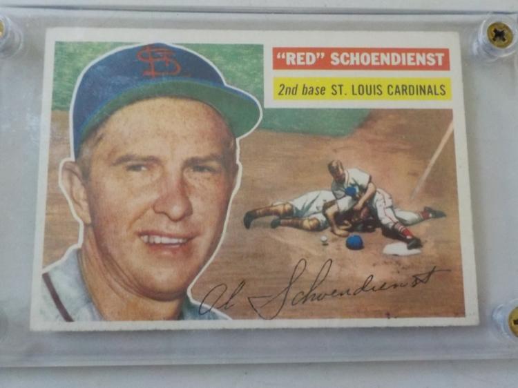 1956 TOPPS Red Schoendienst Baseball Card #165