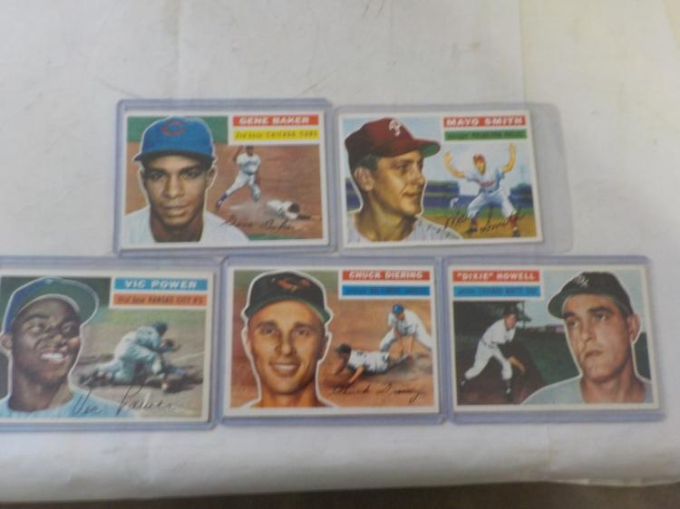 5 1956 TOPPS Baseball Cards EXM-NM