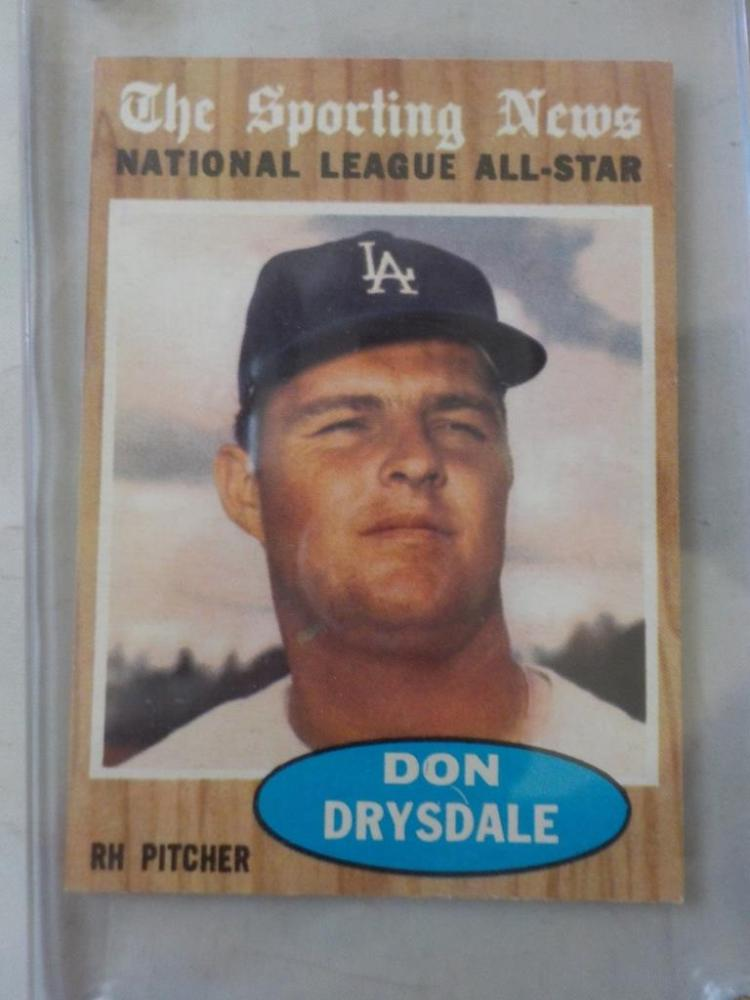 1962 TOPPS Don Drysdale All-Star Card #398