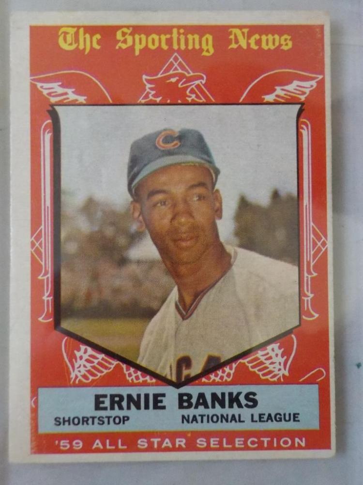 1959 TOPPS Ernie Banks All-Star Baseball Cards