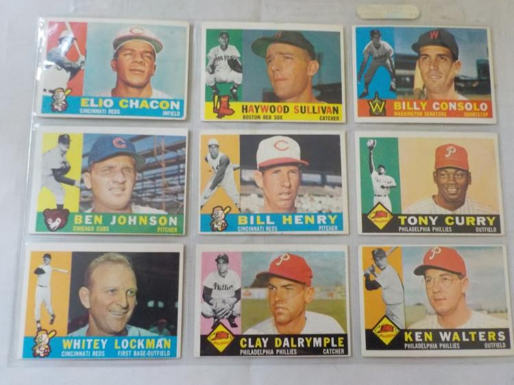 9 1960 TOPPS Baseball Cards High Numbers