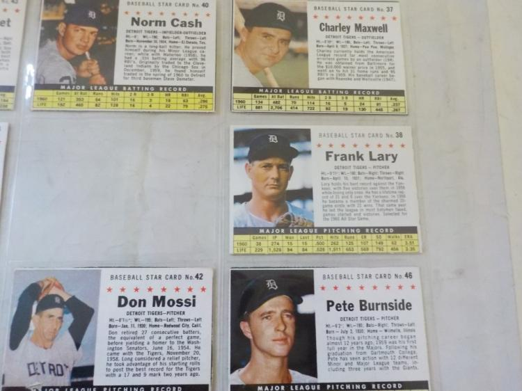 4 1961 Post Cereal Baseball Cards Cleveland Indian