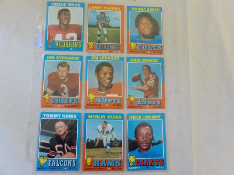 9 1971 TOPPS Superstars w Bubba Smith Rookie