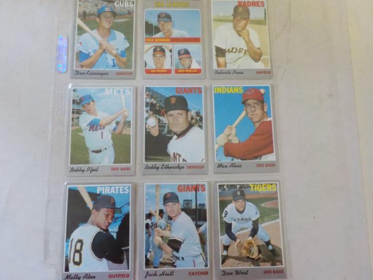 10 1970 TOPPS Baseball Cards
