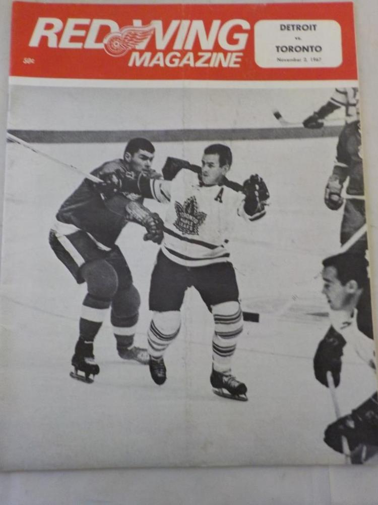Red Wings vs Maple Leafs 11/2/1967 Game Program
