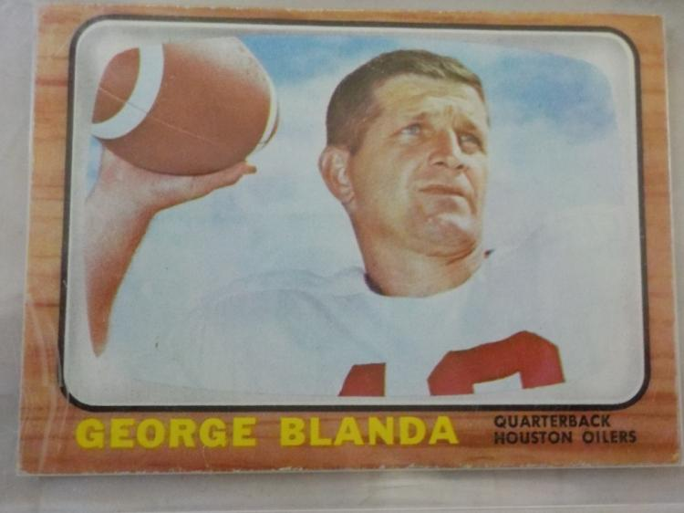 1966 TOPPS George Blanda Football Card EX-EXM
