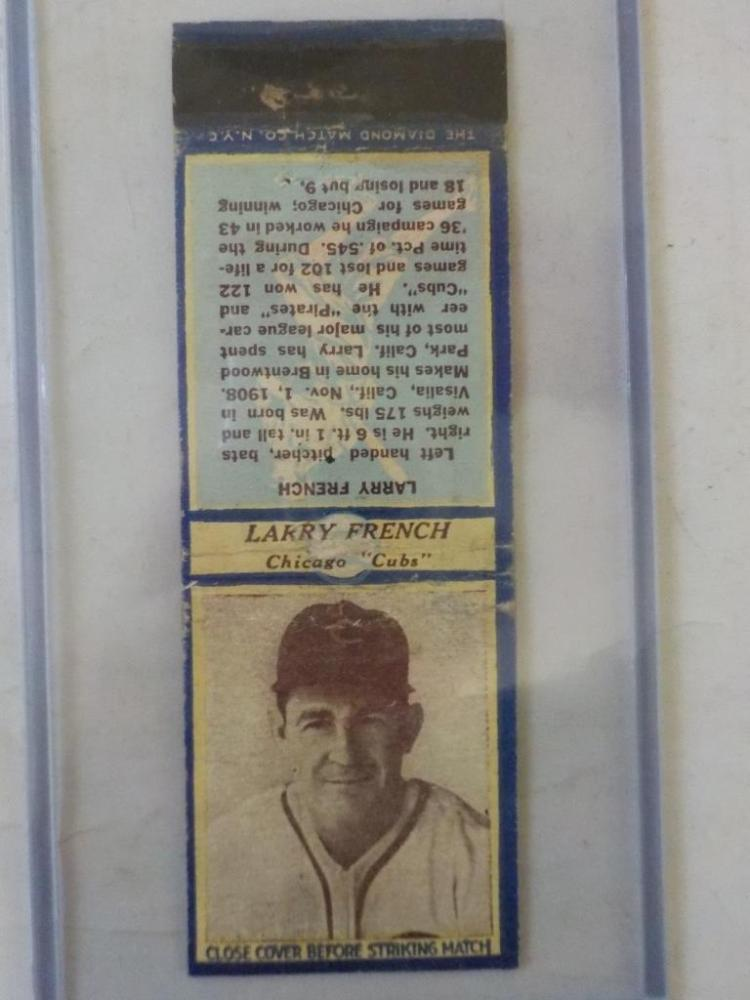Diamond Match 1935-36 Series 3 Type1 Larry French