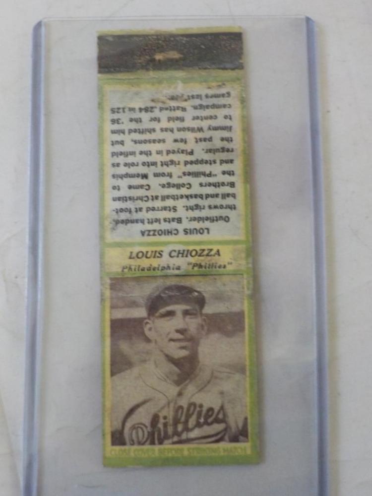 Diamond Match 1935-36 Series 3 Type1 Louis Chiozza