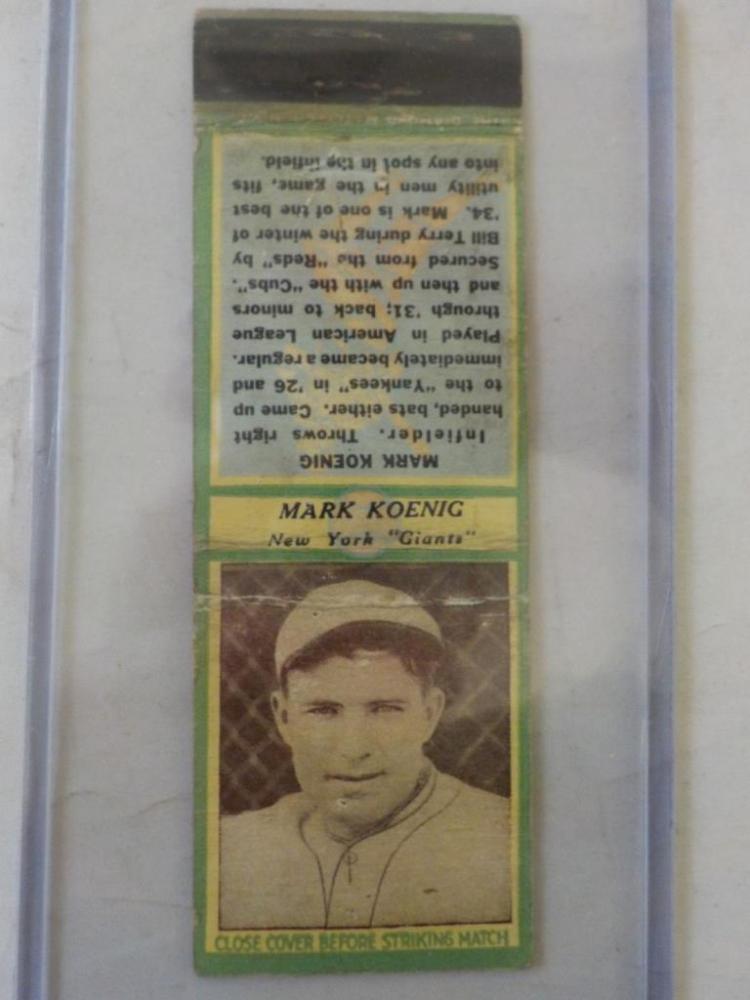 Diamond Match 1935-36 Series 3 Type1 Mark Koenig