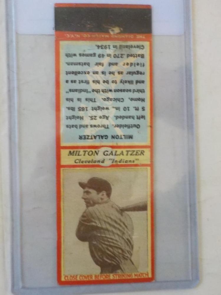 Diamond Match 1935-36 Series 3 Type1 Galatzer
