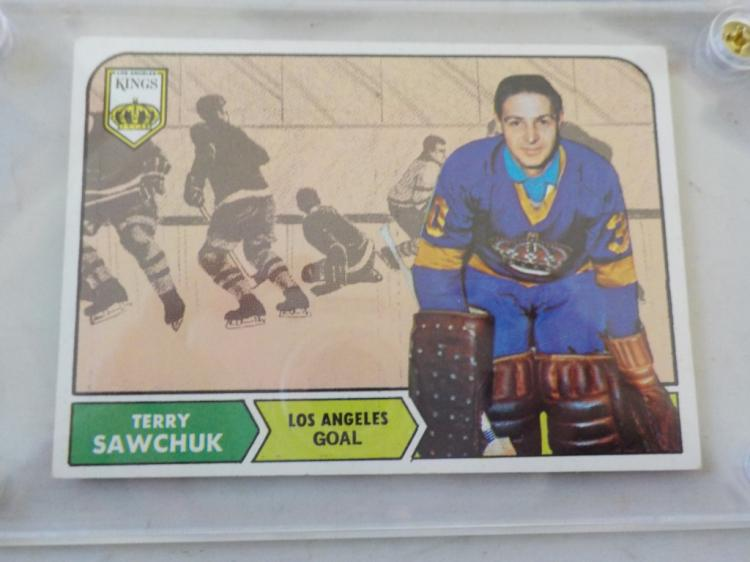 1968-69 TOPPS Hockey Terry Sawchuck #34 card