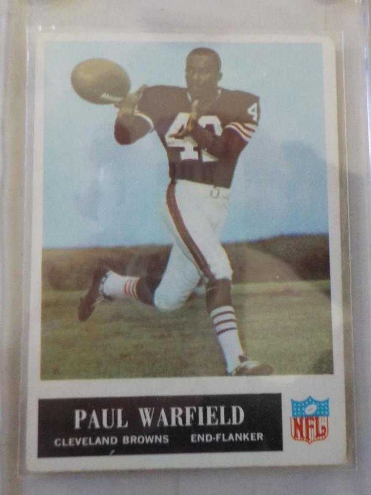 1965 Philadelphia Paul Warfield #41 Rookie Card