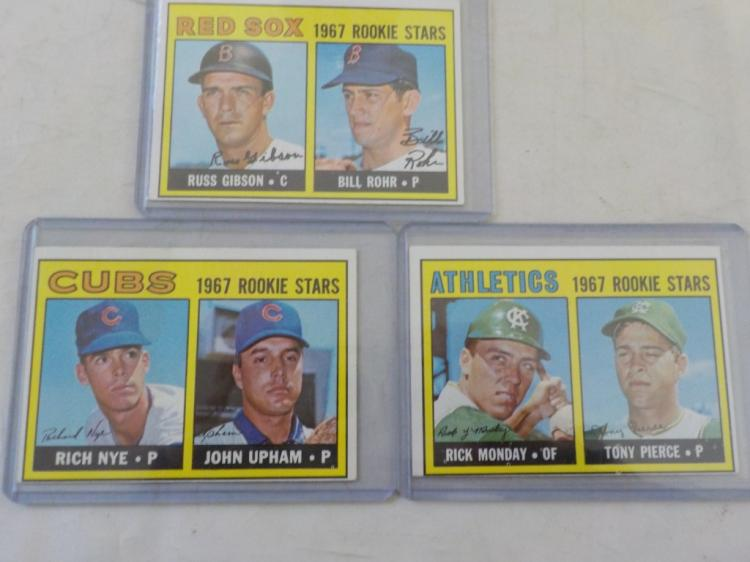 3 1967 TOPPS High # Rookie Stars #608, 542, 547