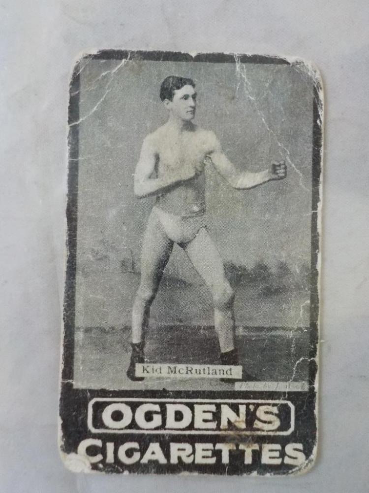 c.1890's Ogden's Cigarettes Boxing Card McRutland