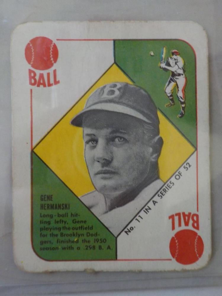 1951 TOPPS Red Back Gene Hermanski Card