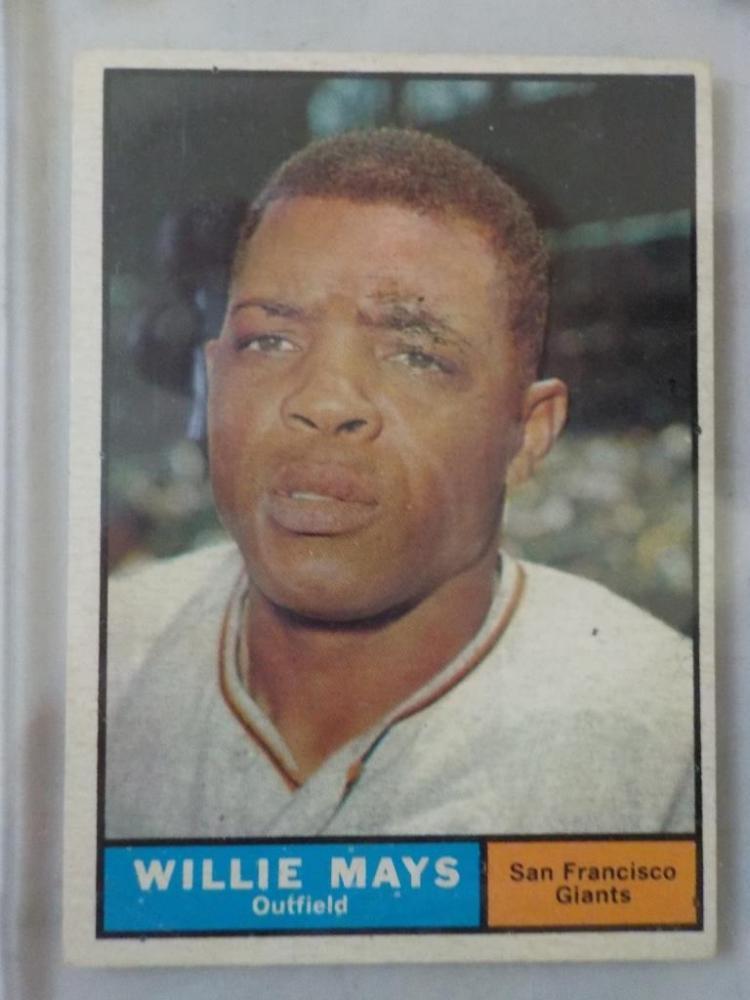 1961 TOPPS Willie Mays #150 Baseball Card VG+-EX