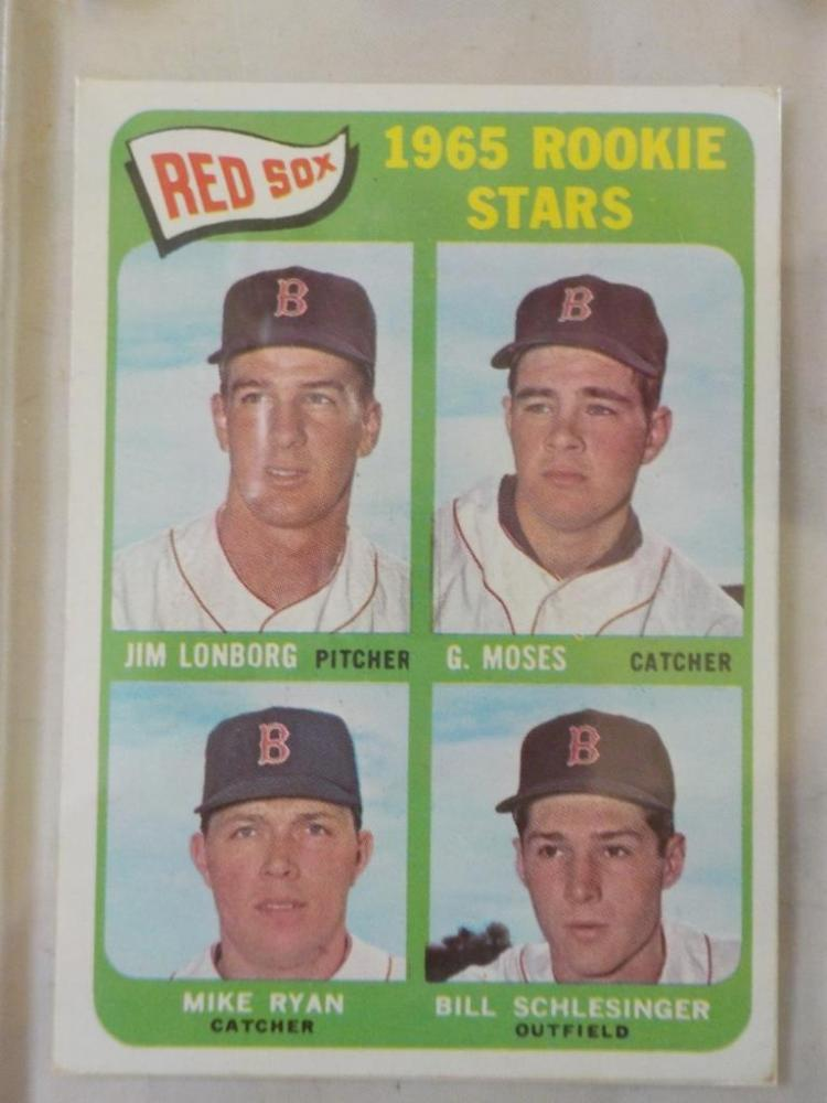1965 TOPPS Jim Lonborg Rookie Card EX++