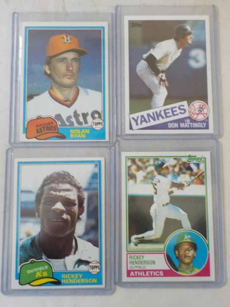 4 Early 1980's TOPPS Baseball Superstars Cards N-M
