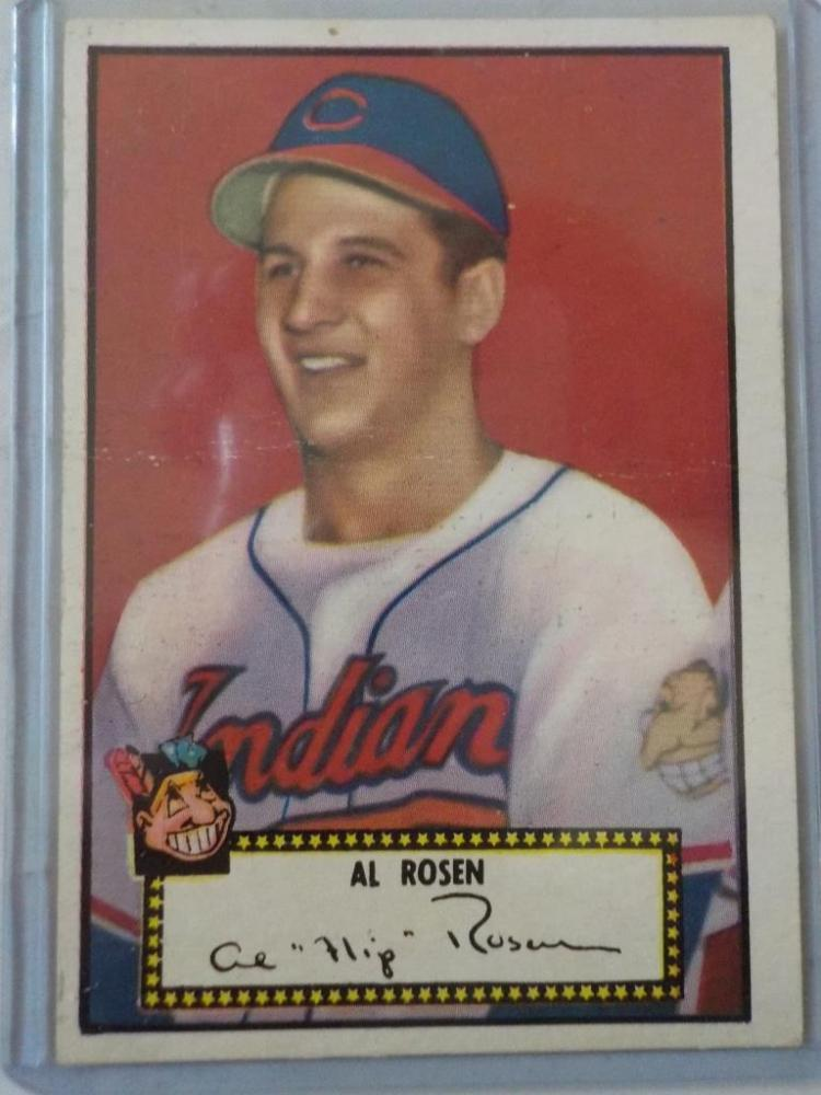 1952 TOPPS Al Rosen Low #10 Baseball Card