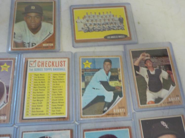 14 1962 TOPPS Baseball Cards incl Powell (R)