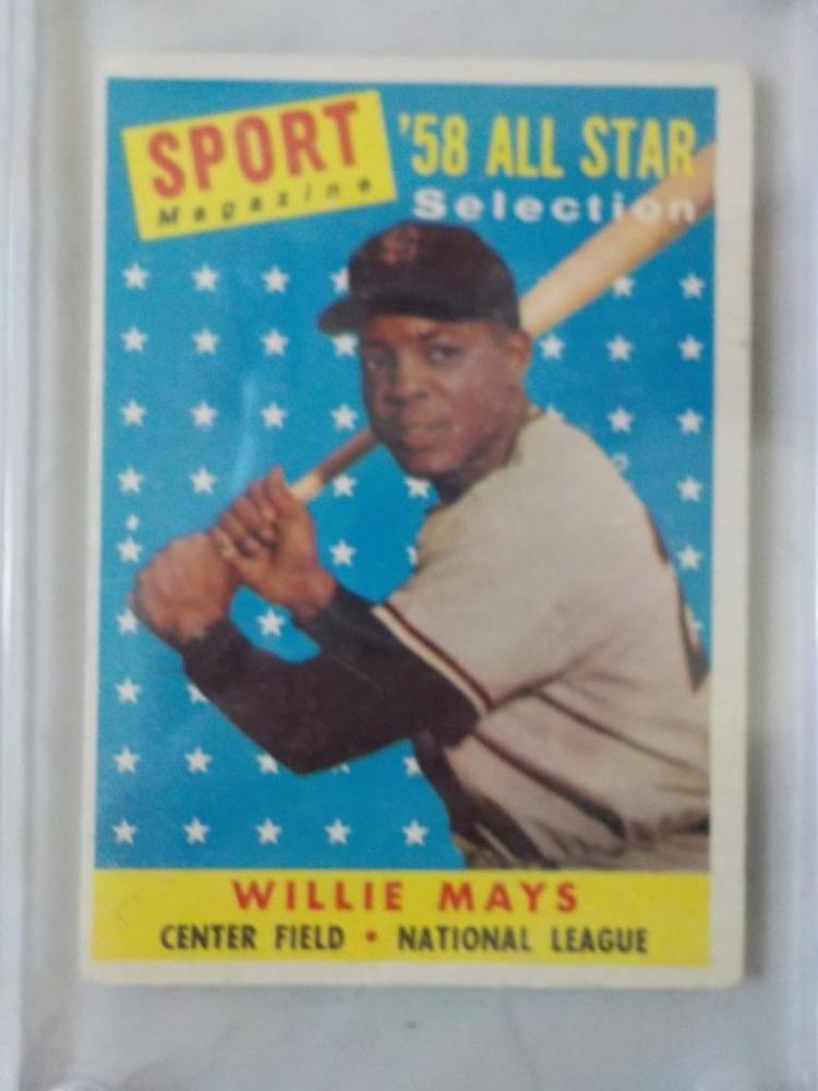 1958 TOPPS Willie Mays All-Star Baseball Card